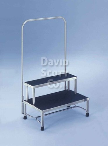 Two Tier Foot Stool With Hand Rail