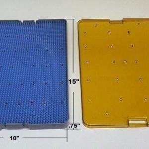 Plastic Sterilization Tray, Lid & mat