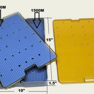 Plastic Sterilization Tray, Lid Double Mat