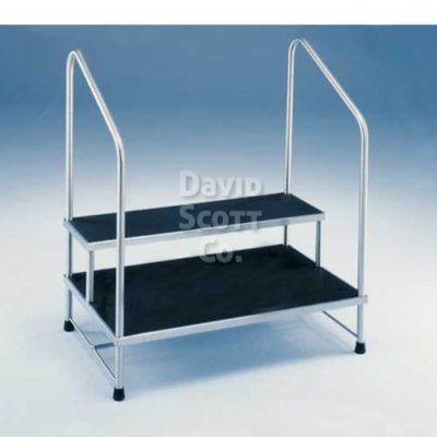 7764mr hr 2 step stainless steel foot stool 24 x16 x16 mr safe