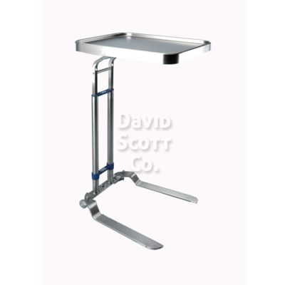 "Heavy Duty Foot Operated Adjustable Mayo Stand 16"" x 21"" Tray"