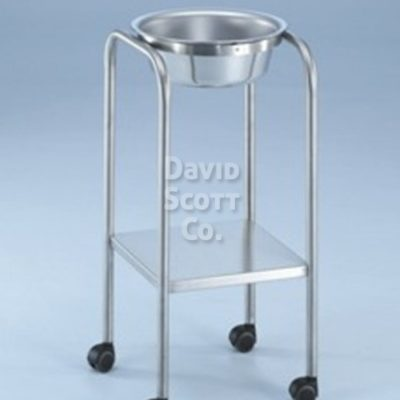 7087SS Baker Single Basin Solution Stand with Shelf, 8.5 qt