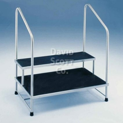 Miraculous Two Tier Foot Stool 24 X36 W Hand Rail Mr Safe Dailytribune Chair Design For Home Dailytribuneorg