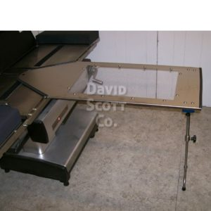 "BD340 Under Pad Mount Hand Surgery Table w/ 2"" Pad, single post leg"