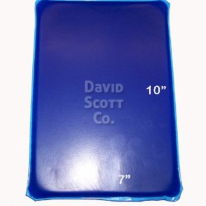 """BD0100-100705 Pillion Gel Seat Pad 7""""x10"""""""