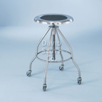 "ST-7745SS Stainless Steel Adjustable Exam Stool 15"" seat"