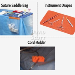 DSC-113 Z-Suture Saddle Bag for Mayo stand or Back Table (sterile)