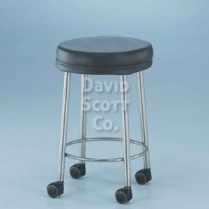 "7445-MR-C MR-safe padded stool with 2"" casters"
