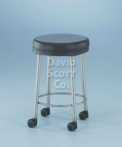 7445-MR-C MR-safe padded stool with 2″ casters