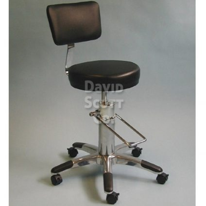 Tremendous Height Adjustable Hydraulic Stool W Backrest 22 5 29 5 Machost Co Dining Chair Design Ideas Machostcouk