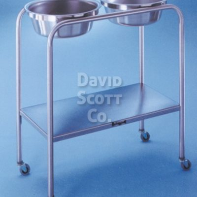 7808-SS-MR Snyder Double Basin Solution Stand with Lower Shelf, Two 8.5 qt