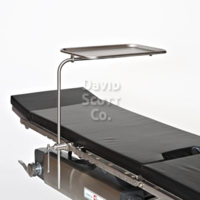Table mounted instrument tray/ rail mount mayo stand