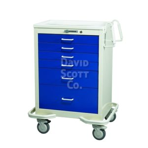 6 Drawer Anesthesia Cart with Push Button Lock