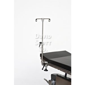 DSC-216 Rail Mounted Adjustable IV Pole- Table Mounted IV Pole Adjustable height- Integrated Clamp for Pole or Rail Mount