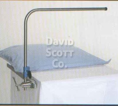 """BD206 Adjustable Height Rigid Anesthesia Screen. Fits 5/8"""" round post"""
