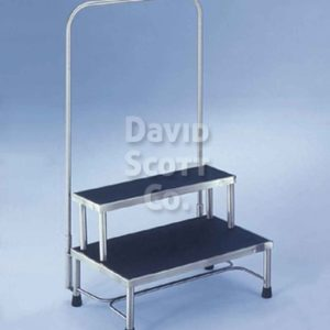 "7763MR-HR 2 Step Stainless Steel Foot Stool 24""x16""x16"" MR-Safe"