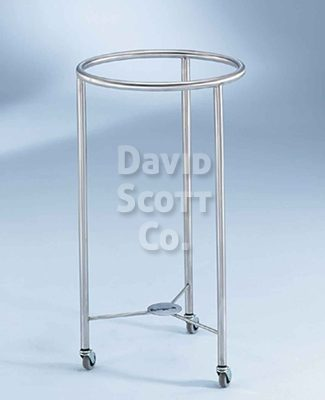 "7772ss-MR Stainless steel hamper 18"" round MR-Safe"