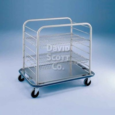 BLOCC4 Stainless Steel Open Case Cart