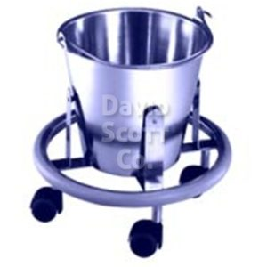 KB900 Stainless Steel Kick Bucket with Casters