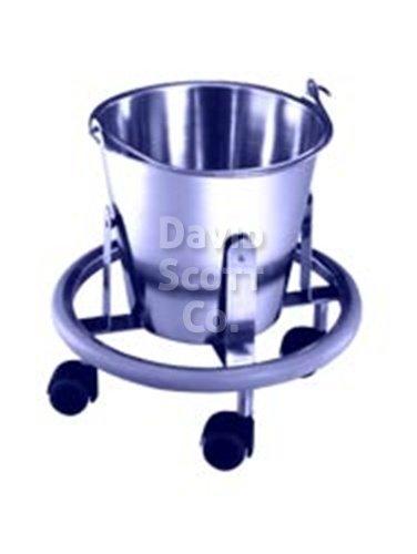 Stainless Steel Kick Bucket On Wheels