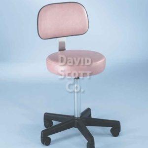 ST1113WB 5- Leg Adjustable Exam Stool w / Aluminum Base & Back