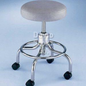 ST411 4-Leg Round Foot Ring Adjustable Exam Stool w / Aluminum Base
