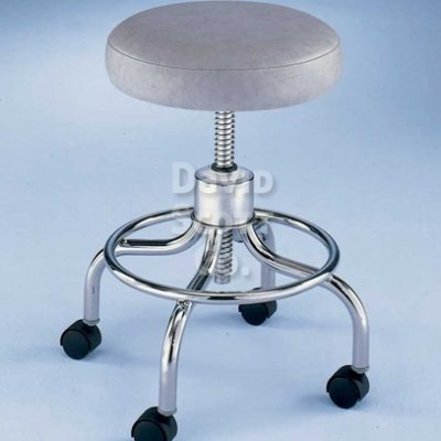 ST411 4-Leg Round Foot Ring Adjustable Exam Stool w / Aluminum Base