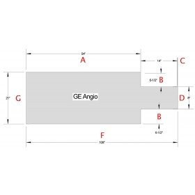 GE ANGIO Table pad