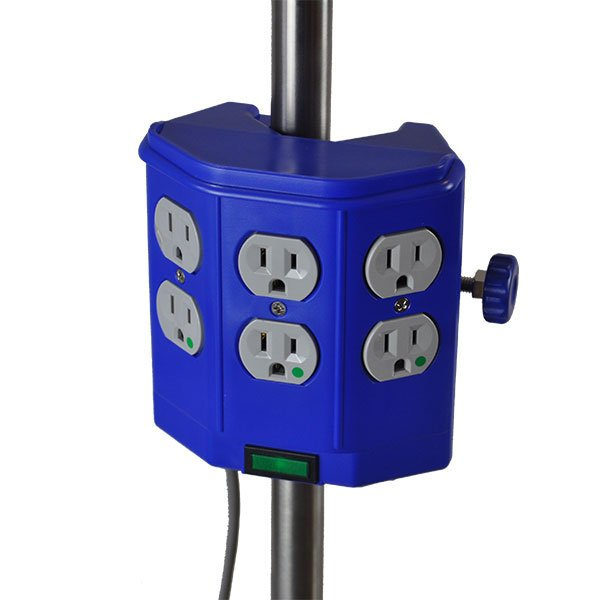 Iv Pole Power Strip 6 Outlets 20 Amp 15 Ft Cord Iv