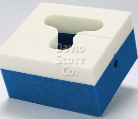 Comfort Foam Slotted Prone Head Positioner Dual Density