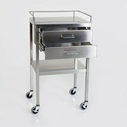 BD521-1- 2 drawer utility table open