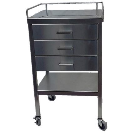 BD522- 3 drawer utility table with lower shelf