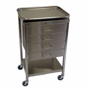 Anesthesia Utility cart with 4 drawers