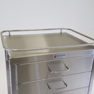 523-T 4 drawer utility table with tray-closeup