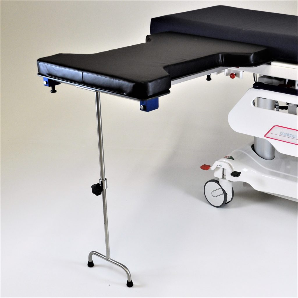 Radiolucent Hourglass Hand Surgery Table Under Pad Mount