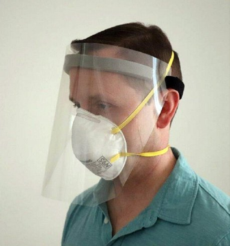 Full Face Shield with Velcro fro PPE
