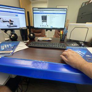 Desk edge cushion