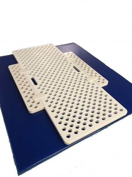 Peg Board Extension in use